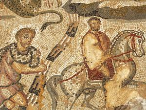 Part of the Amphitrite Roman Mosaic, House of Amphitrite, Bulla Regia Archaeological Site, Tunisia by Dallas & John Heaton