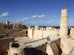 Ribat (Fortress) on Mediterranean Coast, Monastir, Tunisia, North Africa, Africa by Dallas & John Heaton