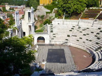 Roman Marble Amphitheatre Built in the 2nd Century, Plovidv, Bulgaria, Europe