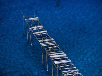 Abandoned Pumice Quarry Jetty,Sicily, Italy