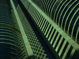 Detail of Skyscraper Facade on Exchange Square, Hong Kong by Dallas Stribley