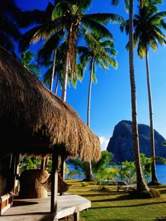 Dolarog Beach Resort with Inabuyatan Island in Background
