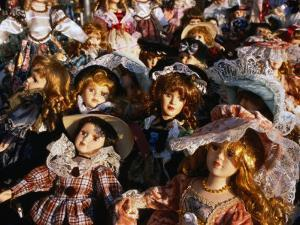 Dolls for Sale in Street Market, Catania, Sicily, Italy by Dallas Stribley