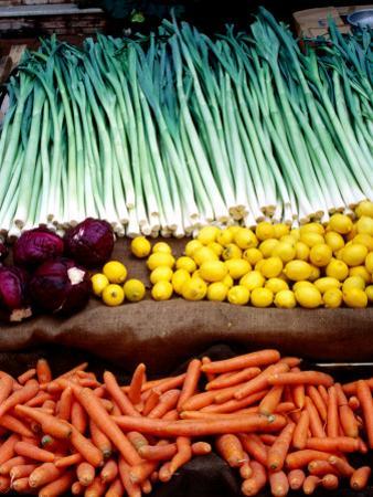 Fruit and Vegetables for Sale in Street Market, Sultanahmet