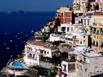 House Terraced into Amalfi Coastline, Positano, Italy