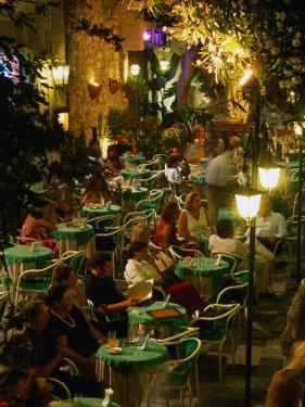 Outdoor Dining Sicilian Style, Taormina, Sicily, Italy by Dallas Stribley