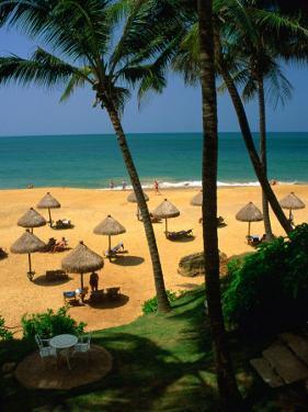 Private Beach of Mt. Lavinia Hotel, Colombo, Sri Lanka by Dallas Stribley