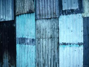 Sheets of Corrugated Iron on Village House, Vanuatu by Dallas Stribley
