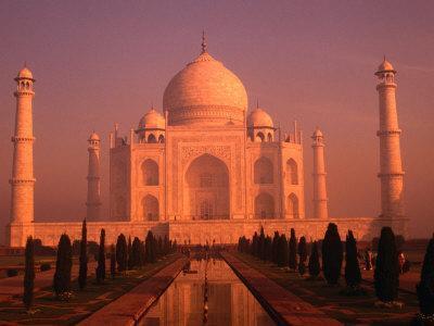 Taj Mahal Glows at Sunrise, Agra, Uttar Pradesh, India