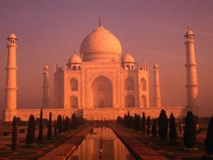 Taj Mahal Glows at Sunrise, Agra, Uttar Pradesh, India by Dallas Stribley