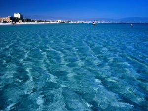 Water Shallows at Poetto Beach, Cagliari, Sardinia, Italy by Dallas Stribley