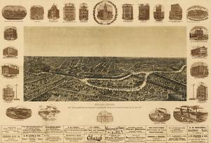 Dallas, Texas - Panoramic Map