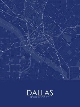 Dallas, United States of America Blue Map