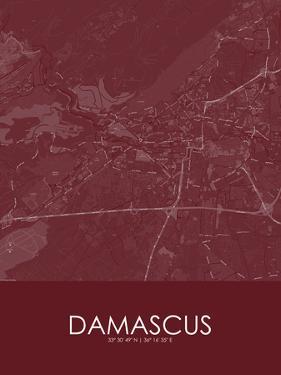 Damascus, Syrian Arab Republic(Syria) Red Map