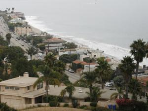 A Portion of the Pacific Coast Highway in Malibu, California, is Shown Monday, July 31, 2006 by Damian Dovarganes