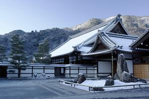 Early winter morning in Tenryu-ji Temple, UNESCO World Heritage Site, Kyoto, Japan, Asia by Damien Douxchamps