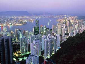 Hong Kong At Dawn by Damien Lovegrove