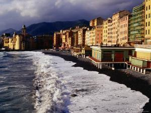Buildings Along the Camogli Foreshore by Damien Simonis