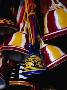 Ceramic Bells for Sale, Siena, Italy by Damien Simonis
