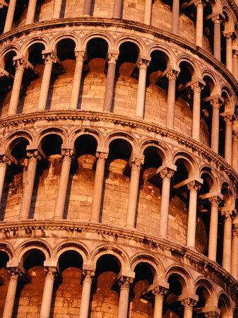 Detail of Torre Di Pisa (Leaning Tower of Pisa), Pisa, Italy