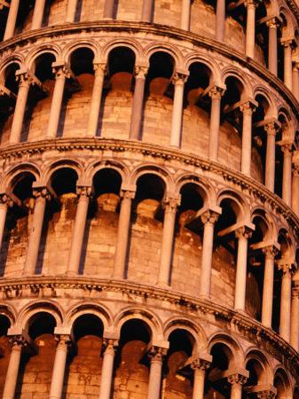 Detail of Torre Di Pisa (Leaning Tower of Pisa), Pisa, Italy by Damien Simonis