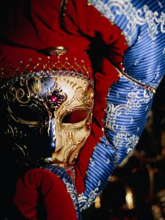 Elaborate and Ornate Mask for Venice Carnival, Venice, Italy