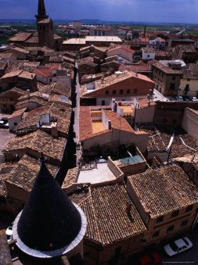 Looking Over Town from Gran Torre O Palacio Real, Olite, Spain by Damien Simonis