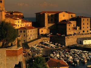 Old Section of Town on Waterfront, Piombino, Italy by Damien Simonis