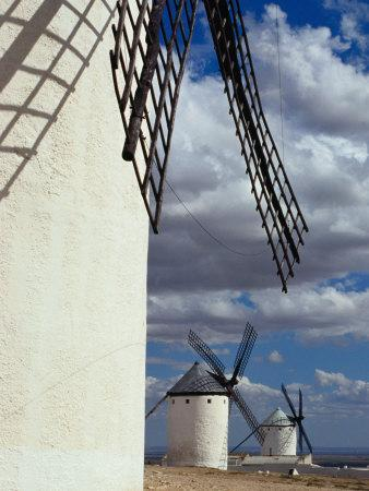 Row of Traditional Windmills, Campo De Criptana, Spain