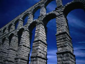 Section of Aqueduct of Segovia, Segovia, Spain by Damien Simonis
