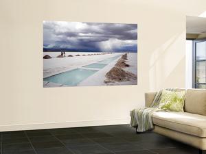 Storm Burst over Salt Pan Salinas Grandes by Damien Simonis