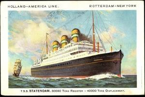 Dampfer T.S.S. Statendam, Holland America Line