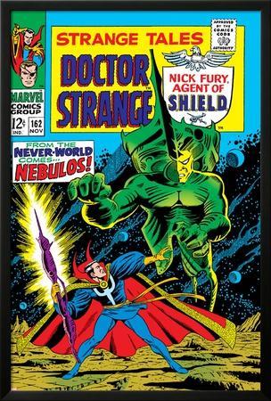 Strange Tales No.162 Cover: Dr. Strange and Nebulos Flying