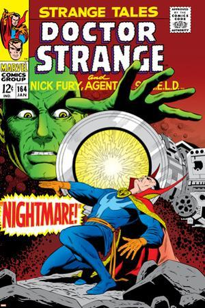 Strange Tales No.164 Cover: Dr. Strange and Yandroth by Dan Adkins