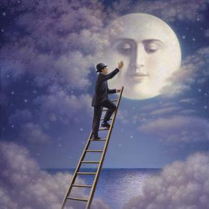 Man with Moon by Dan Craig