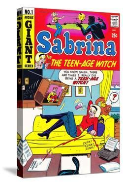 Archie Comics Retro: Sabrina the Teen-age Witch Comic Book Cover No.1 (Aged) by Dan DeCarlo