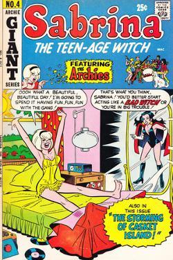 Archie Comics Retro: Sabrina the Teen-age Witch Comic Book Cover No.4 featuring The Archies (Aged) by Dan DeCarlo