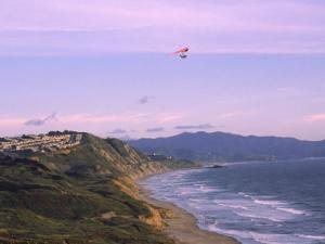 Hang Gliding Over Ocean, Marin County, CA by Dan Gair