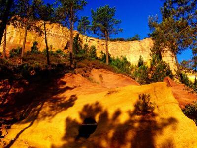 Cliffs and Pine Trees, Sentier des Ocres, Roussillon, Provence-Alpes-Cote d'Azur, France by Dan Herrick