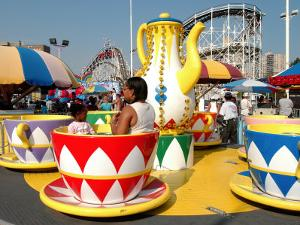 Coney Island Attractions, New York City, New York by Dan Herrick