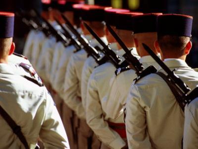 Soldiers in Bastille Day Parade, Paris, Ile-De-France, France by Dan Herrick