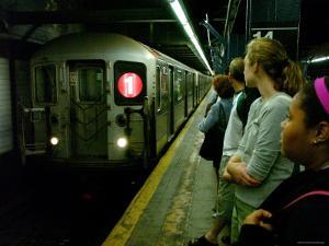 Train on New York Subway, New York City, New York by Dan Herrick