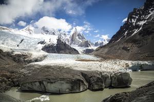 Cerro Torre  Looms On The Horizon In Los Glaciares National Park - Santa Cruz Province, Argentina by Dan Holz