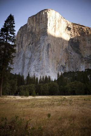 El Cap as Seen from the Valley Floor of Yosemite National Park, California