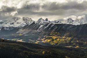 Lizard Head, Mt Wilson, Wilson Peak, & El Diente Peak During Autumn Storm, San Juan Mts, Colorado by Dan Holz