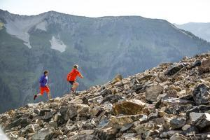 Mayan Smith-Gobat & Ben Rueck Go For High Elevation Trail Run, Backcountry Of Above Marble, CO by Dan Holz