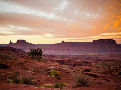 Sunrises in the Moab Desert - Viewed from the Fisher Towers - Moab, Utah