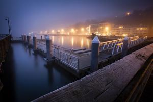 The Pier Near Seattle's Water Taxi Zone on the Puget Sound, West Seattle, Washington by Dan Holz