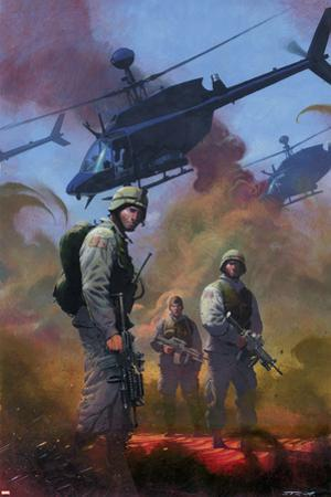 Combat Zone: True Tales Of GIs In Iraq Cover: Marvel Universe