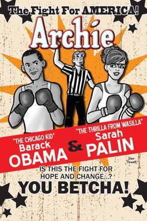 Archie Comics Cover: Archie No.617 Barack Obama and Sarah Palin Campaign Pains Part 2 (Variant)